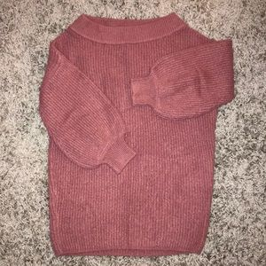Ballon sleeve rose Express sweater